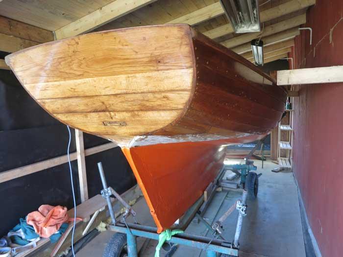 sjösättning av segelbåt